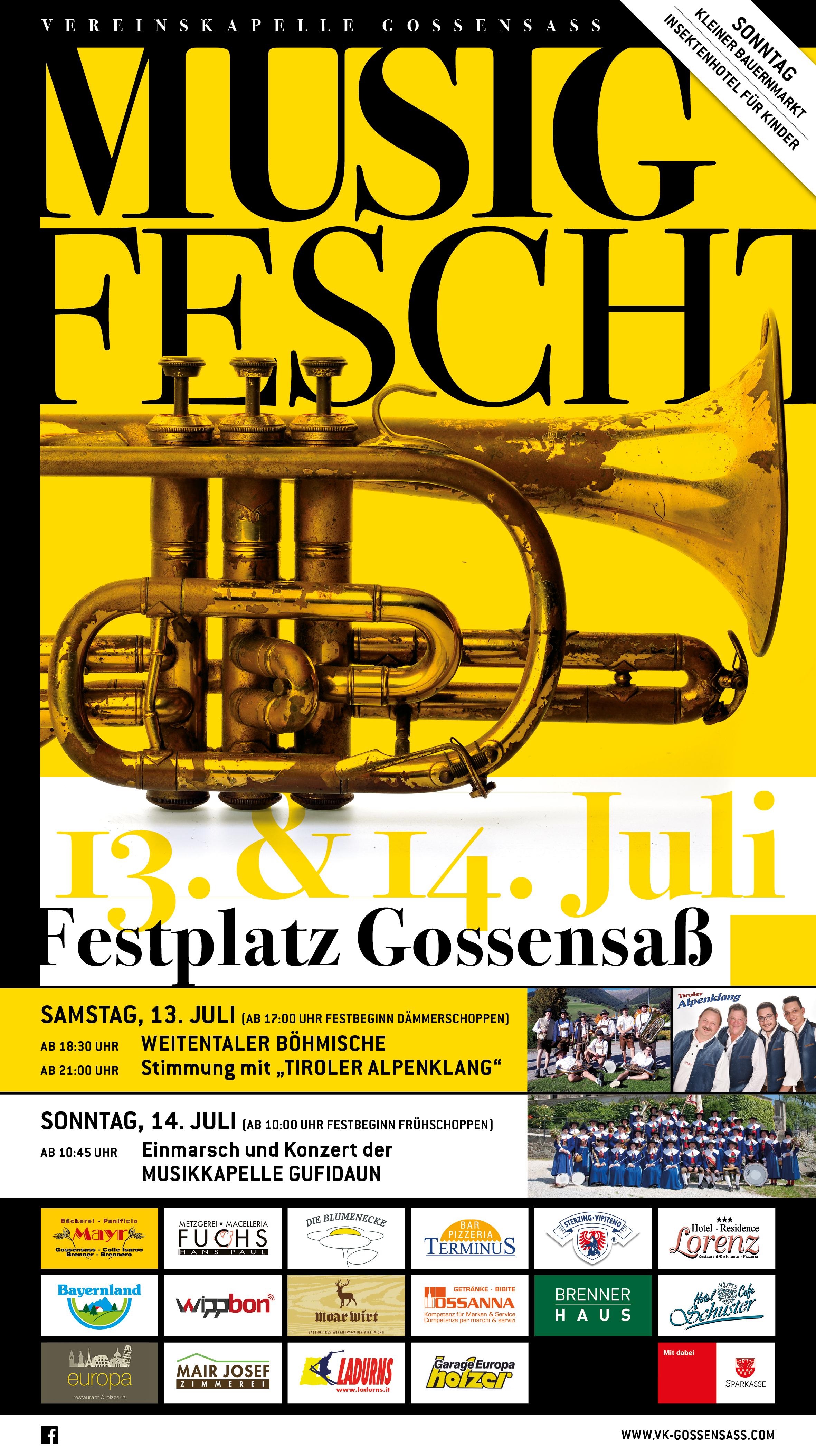Musikfest der VK Gossensaß